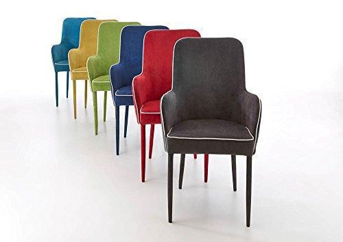 2 Esszimmerstühle, gepolstert und mit Cord bezogen, Maße: B/H/T ca. 55/95,5/59 cm
