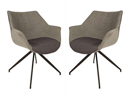 2er Set Lounge Sessel Doulton Grey von Zuiver