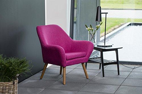 AC Design Furniture 58884 Loungestuhl Lulu, Stoff magenta