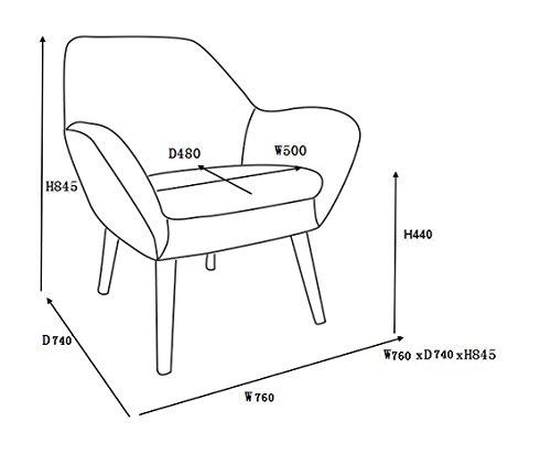 AC Design Furniture 58943 Loungestuhl Lulu, Stoff hell grau