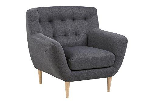 AC Design Furniture 60483 Sessel Jimmy, circa 93 x 87 x 84 cm, Stoff dunkelgrau