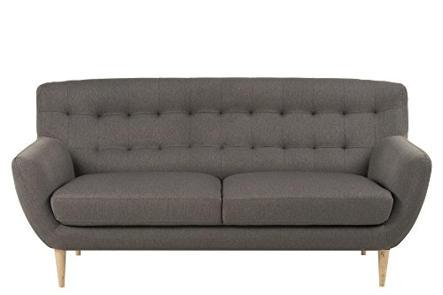 AC Design Furniture 60498 Sofa Jimmy 3-Sitzer, circa 185 x 87 x 84 cm, Stoff grau