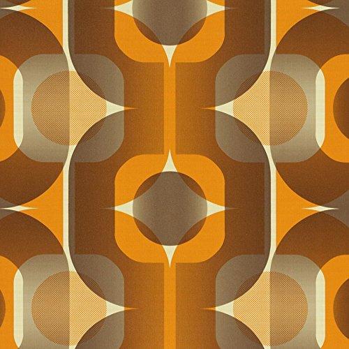 """AS Creation 1974 """"Thank You"""" Tapete, Orange, Retro"""