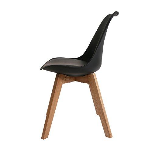 BUTIK Moderner Design Esszimmerstuhl Consilium Valido / Holz - Maße 83x48x39 cm (Schwarz)