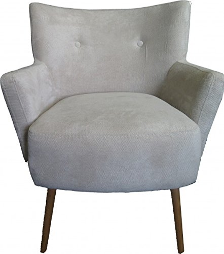 Casa Padrino Retro Salon Sessel Beige-Grau - Cocktailsessel 60er Jahre Stuhl
