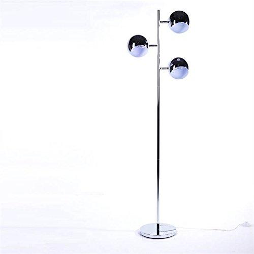 DESIGN LOUNGE 3 KUGEL STEHLAMPE von DESIGN DELIGHTS retro leuchte silber standlampe
