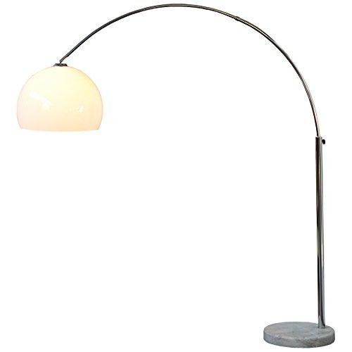 Design Bogenlampe LOUNGE DEAL weiss Marmorfuss 175 bis 205 cm ausziehbar