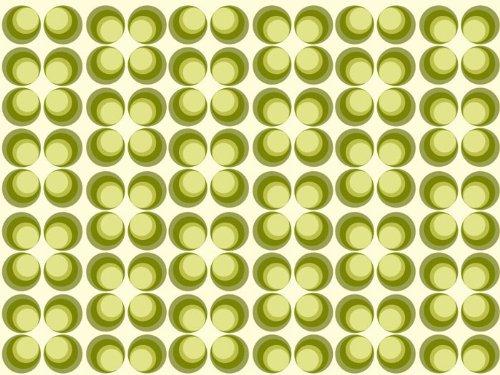 Fototapete Retrokreise Grün Muster KT97 Größe: 420x270cm Retro Muster Tapete Grün