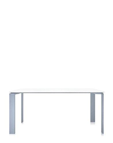 Kartell - Four Tisch - weiß - Aluminium - rechteckig, 158 x 79 cm - Ferrucio Laviani - Design - Esstisch - Gartentisch - Outdoortisch - Terrassentisch