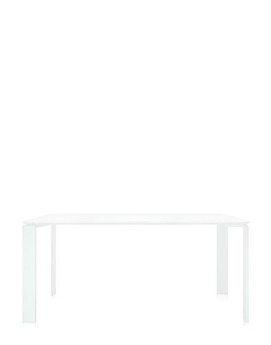 Kartell - Four Tisch - weiß - weiß - rechteckig, 158 x 79 cm - Ferrucio Laviani - Design - Esstisch - Gartentisch - Outdoortisch - Terrassentisch