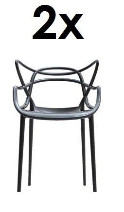 Kartell Masters 2 x Stapelstuehle schwarz von Philippe Starck zum Set-Preis 5865 09