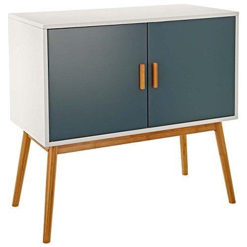 LOMOS® No.3 Kommode aus Holz mit zwei Flügeltüren im eleganten Retro-Design