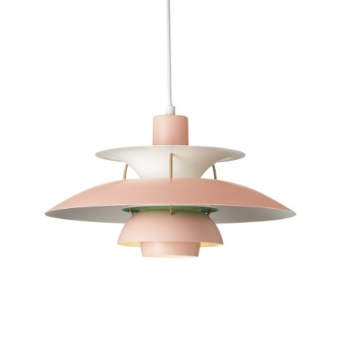 Louis Poulsen Pendelleuchte PH 5 Contemporary, rose/green mat