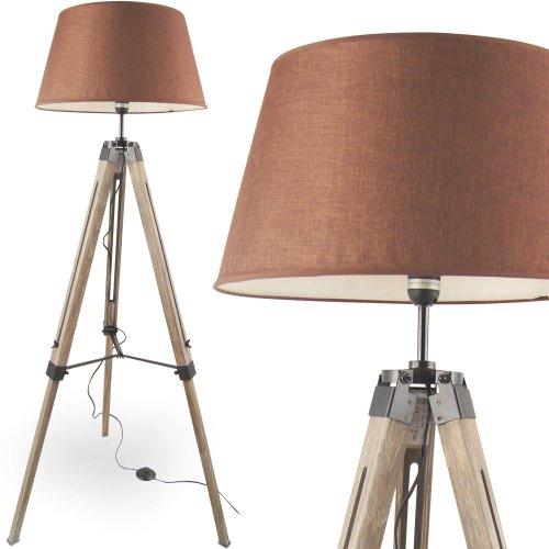 MOJO® Stehlampe Höhenverstellbar Stehleuchte Tripod Lampe Leselampe Dreifuss mq-l33