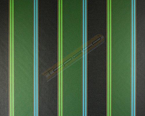 Marburg Panels Retro Vlies 70er Tapete Vliestapete grün schwarz 51567