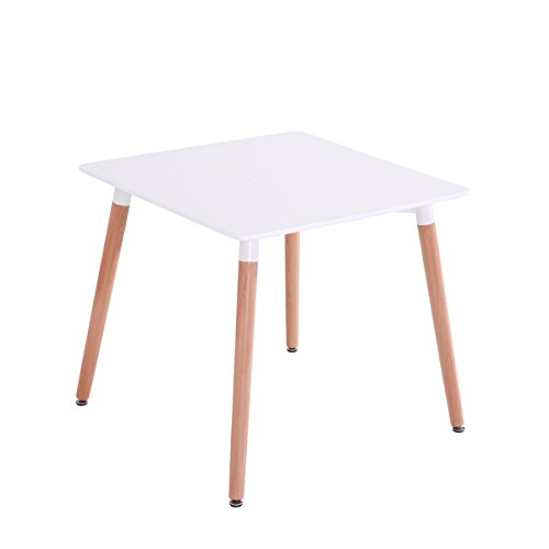 Mdf Inspiration Retro Esstisch 80x80 weiss quadratisch Tisch