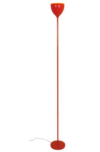 Naeve Leuchten Stehleuchte Retro, Höher 180 cm, Durchmesser 20 cm, Material: Metall, Kunststoff, orange 2022298
