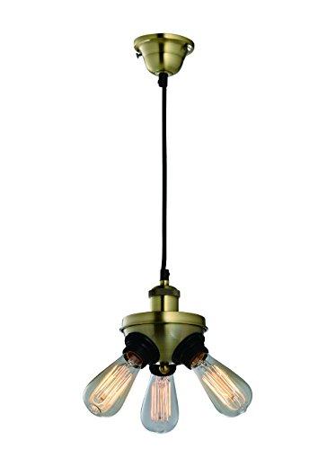 Purelume Retro Vintage Tripple Lampe Pendelleuchte inkl. 40W Edison Leuchtmittel