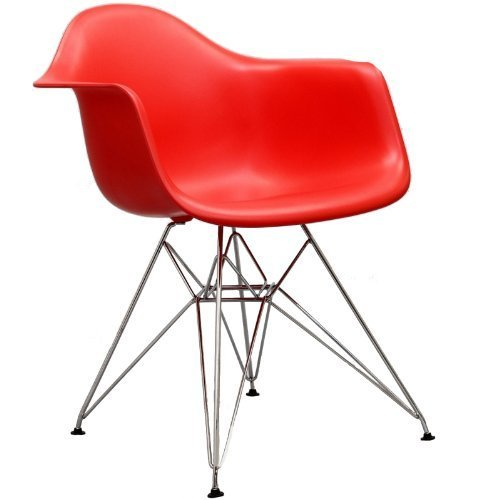 Red Charles Ray Eames Eiffel Armchair Wire Base FMP251321 by Fulmens