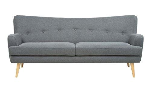 Retro Sofa Regina 3-Sitzer Hellgrau