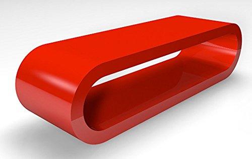 Retro-Stil Reifen Große Retro Rot Hochglanz Couchtisch / TV-Ständer 110 cm Breite