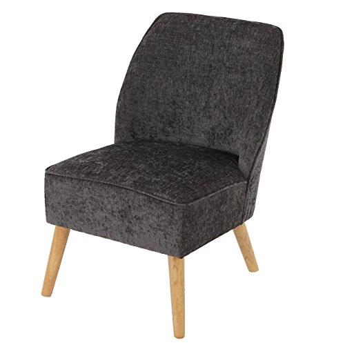 Sessel Malmö T312, Loungesessel Polstersessel, Retro 50er Jahre Design ~ grau, Textil