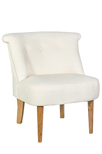 Sessel Stuhl creme weiß mit Knopfheftung *447