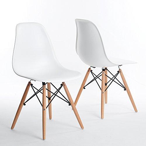 Set 4er Charles Eames Stühle für Restaurants Schlafzimmer Küche DSW Retro Eiffel