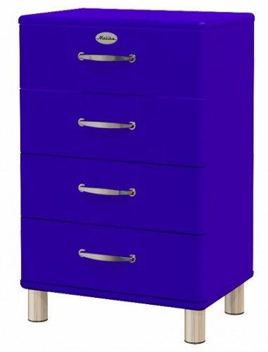Sideboard Tenzo Malibu 60 cm mit 4 Schubladen MDF Farbe wählbar Matt, Farbe:Blau