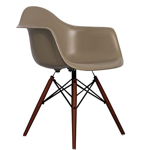 Slate Eames Style DAW chair with walnut legs