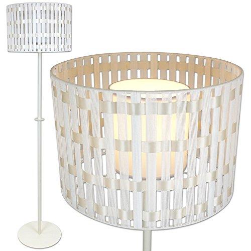 Standleuchte - Stehlampe mit Lampenschirm - Stehleuchte - Stehlampe inklusive Energiesparlampe