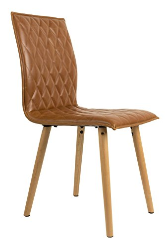 Stuhl ANDY Esszimmerstuhl mit Schalensitz in Kunstleder braun