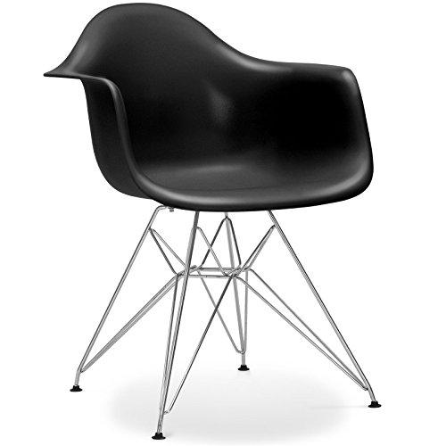 Stuhl Eames DAR Stil Schwarz