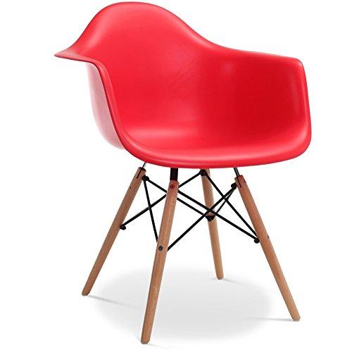 Stuhl DAW Stil - Rot