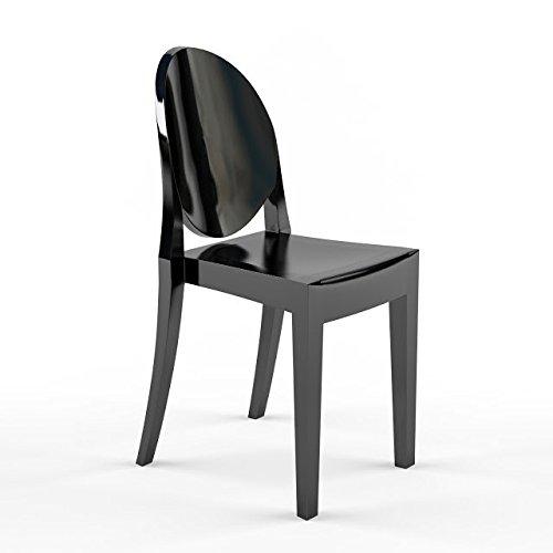 Stuhl Ghost Stil - Schwarz