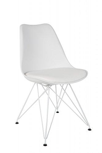 Stuhl OZZY Esszimmerstuhl mit Schalensitz in weiß