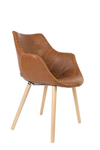 Stuhl Polsterstuhl TWELVE Vintage Braun von Zuiver