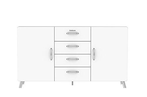 Tenzo 4936-001 Cobra Designer Sideboard, 92 x 163 x 43 cm, MDF lackiert, weiß