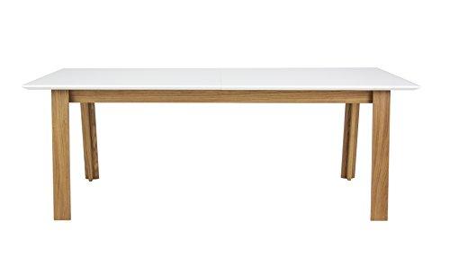 Tenzo 5960-454 Profil Designer Ausziehtisch, 75 x 210 - 270 x 95 cm, weiß / eiche