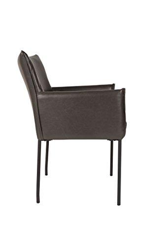 Armlehnen-Stuhl DION schwarz - (1200120)