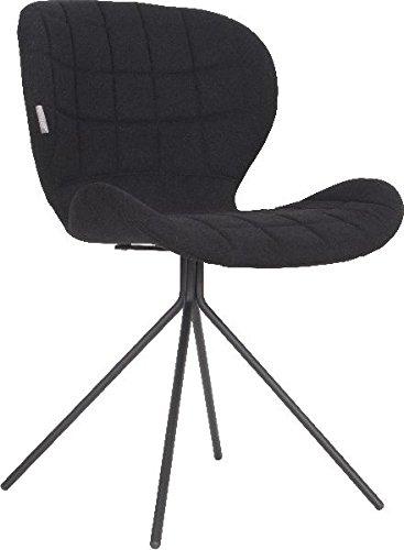 Zuiver Stuhl Esszimmerstuhl OMG schwarz