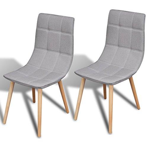 vidaXL 2 x Esszimmerstuhl Essstuhl Küchenstuhl Essgruppe Stuhlgruppe Stühle