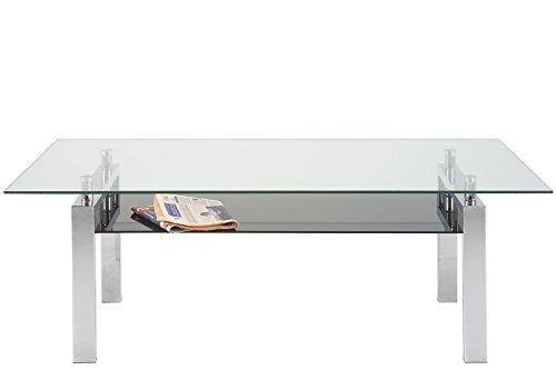 AC Design Couchtisch Connie, Verre/Chrome, 120 x 60 x 42 cm