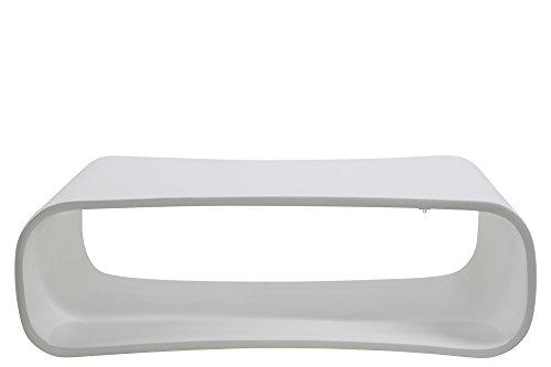 AC Design Furniture 0000054493 Couchtisch Palle, 110 x 70 x 35 cm, Glas Faser hochglanz weiß