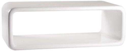 AC Design Furniture 17166 Couchtisch Loris, Glasfaser weiß Hochglanz, ca. 120 x 40 x 60 cm