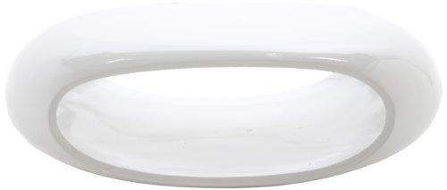 AC Design Furniture 31716 Couchtisch Clara, Glasfaser weiß hochglanz lackiert, ca. 100 x 32 x 70 cm