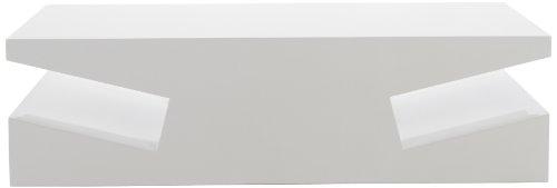 AC Design Furniture 42445 Couchtisch Tim, ca. 115 x 32 x 60 cm, weiß hochglanz