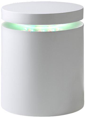 AC Design Furniture 49352 Beistelltisch Lars, weiß hochglanz, inklusive RGB-Wechsellicht, ca. 40 x 50 cm