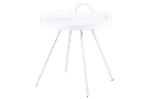 AC Design Furniture 57626 Beistelltisch Joan / Durchmesser 51 cm H:62,5 cm, weiß