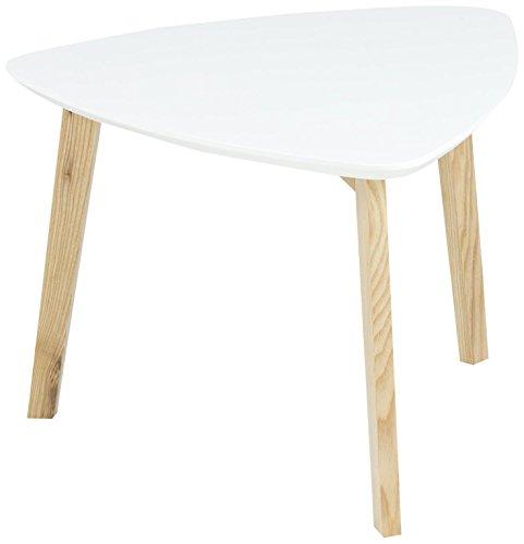 AC Design Furniture 60268 Ecktisch Mette, Tischplatte aus Holz, lackiert weiß